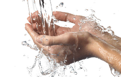 water softener hands